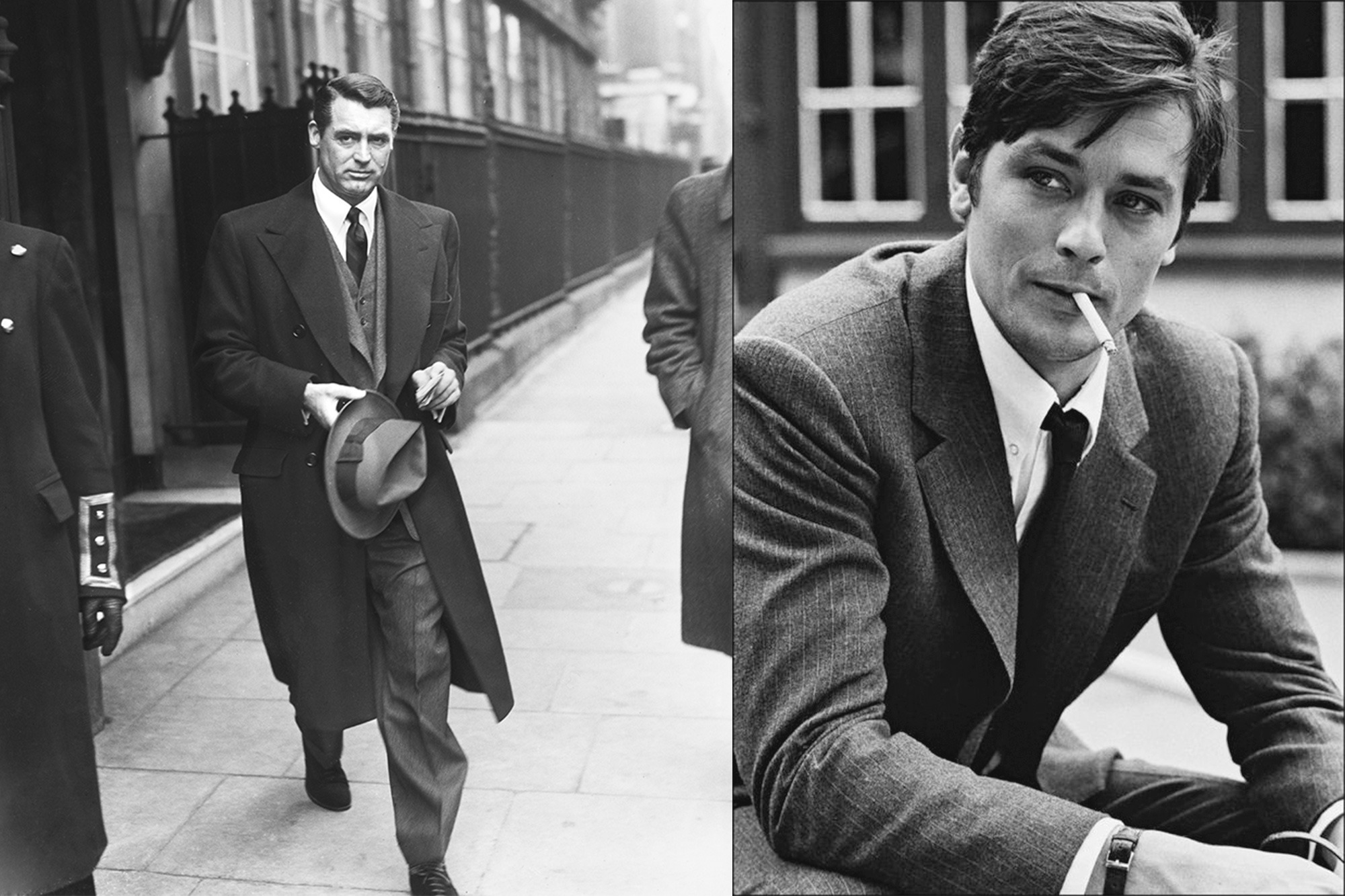 Icones de style Husbands - Cary Grant et Alain Delon