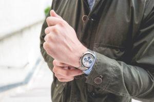 Montre Chronographe Gallet by Racine - Look