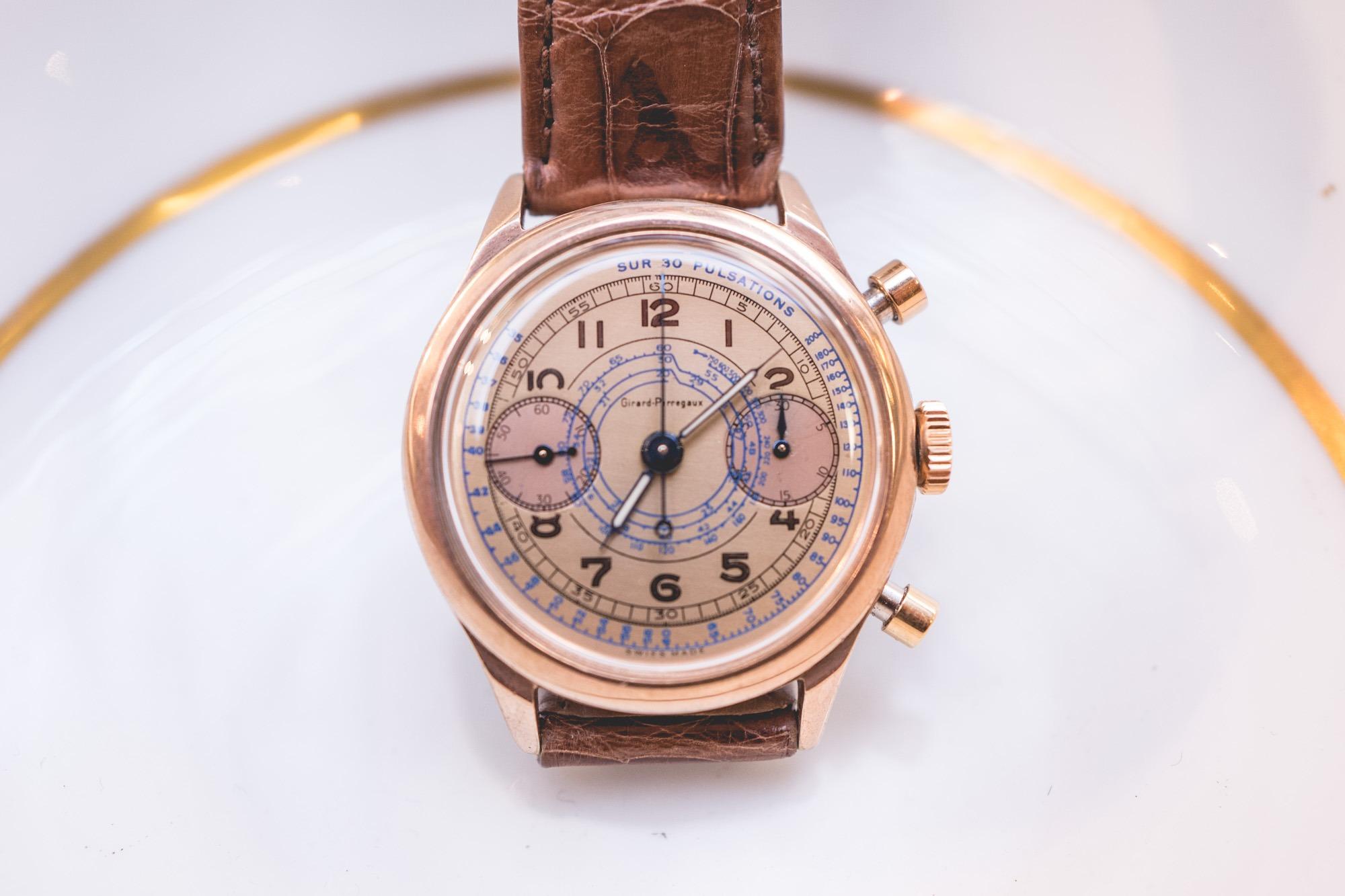 Vente Tajan Georg Fischer Girard Perregaux chronograph