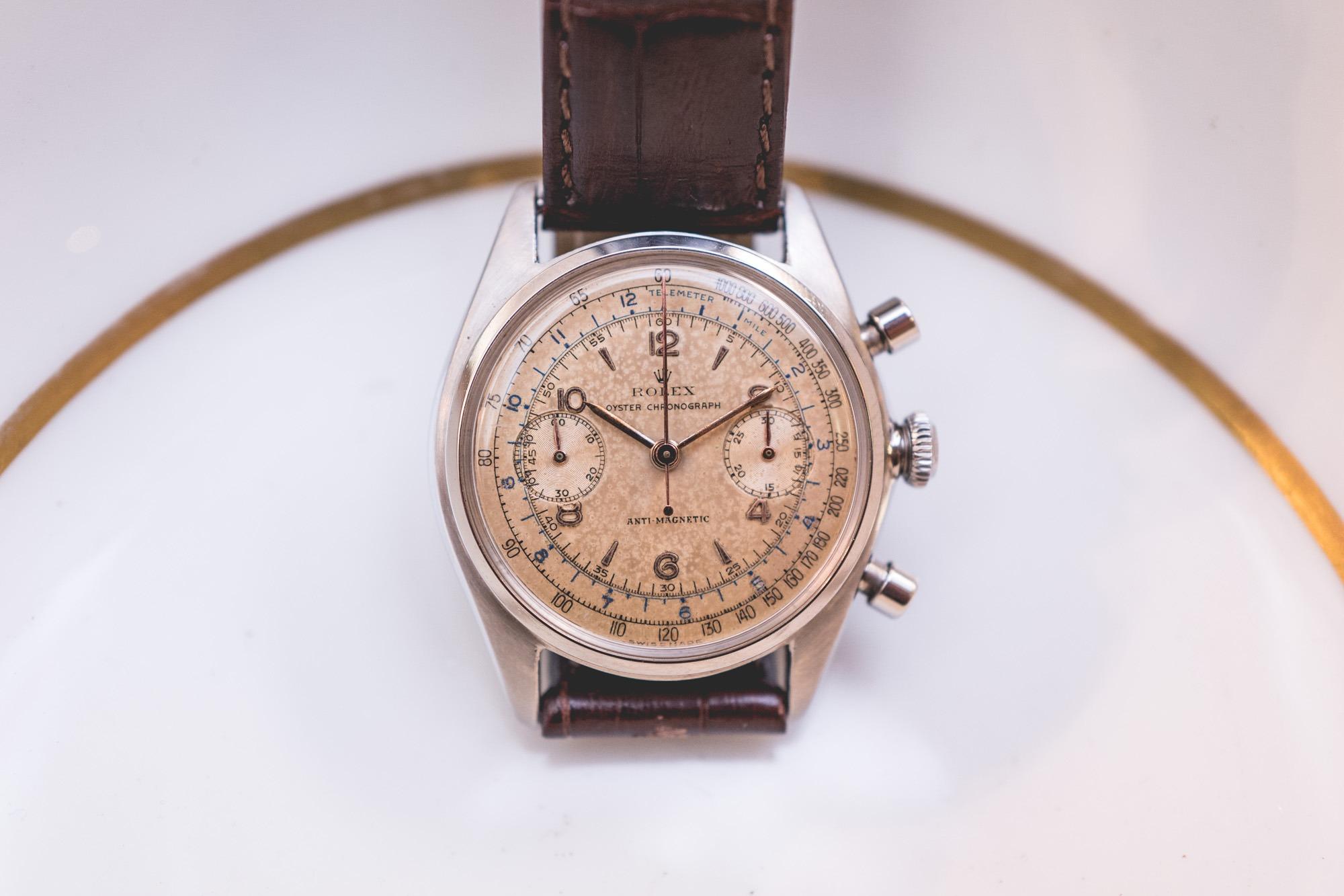 Vente Tajan Georg Fischer Rolex Oyster Chronograph Ref. 4500