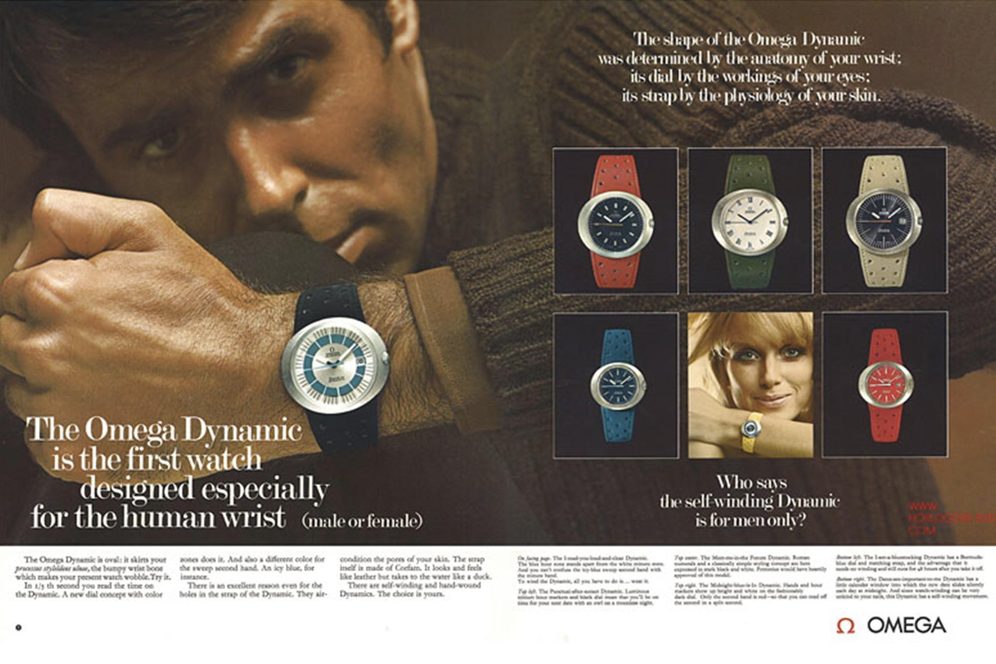 Omega Genève Dynamic - Publicité