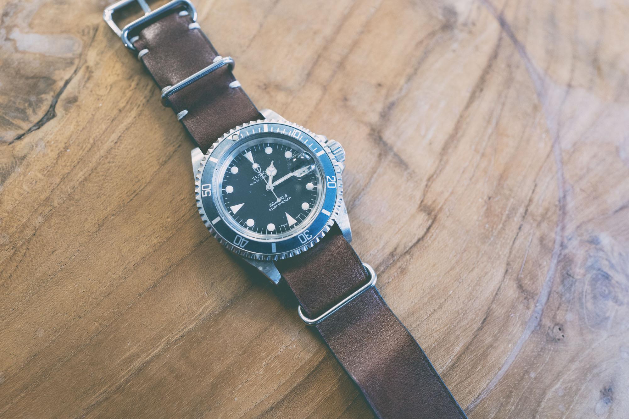 Tudor Submariner 79090 - Bracelet Nato en cuir