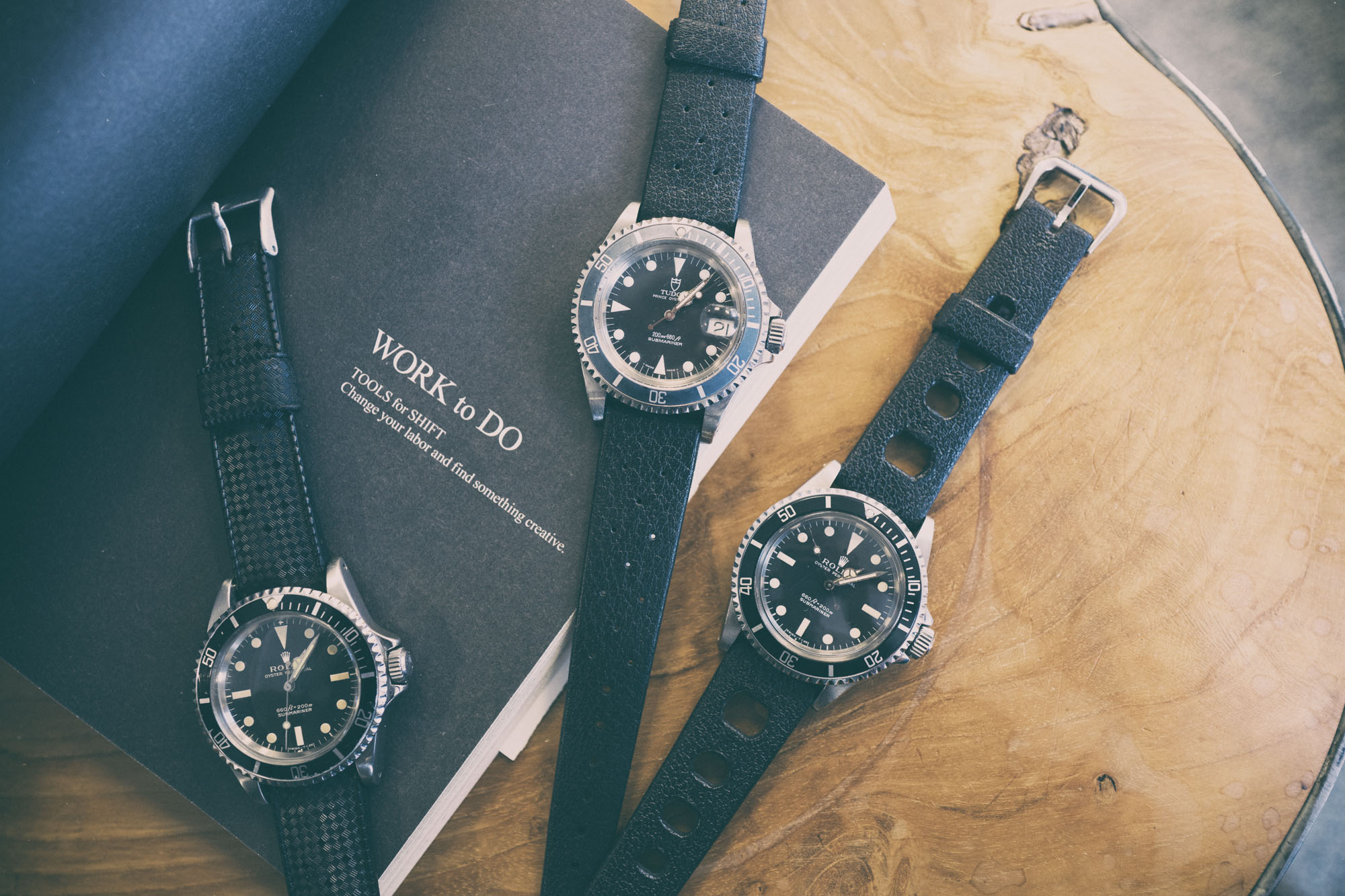 Submariner et bracelets Tropic