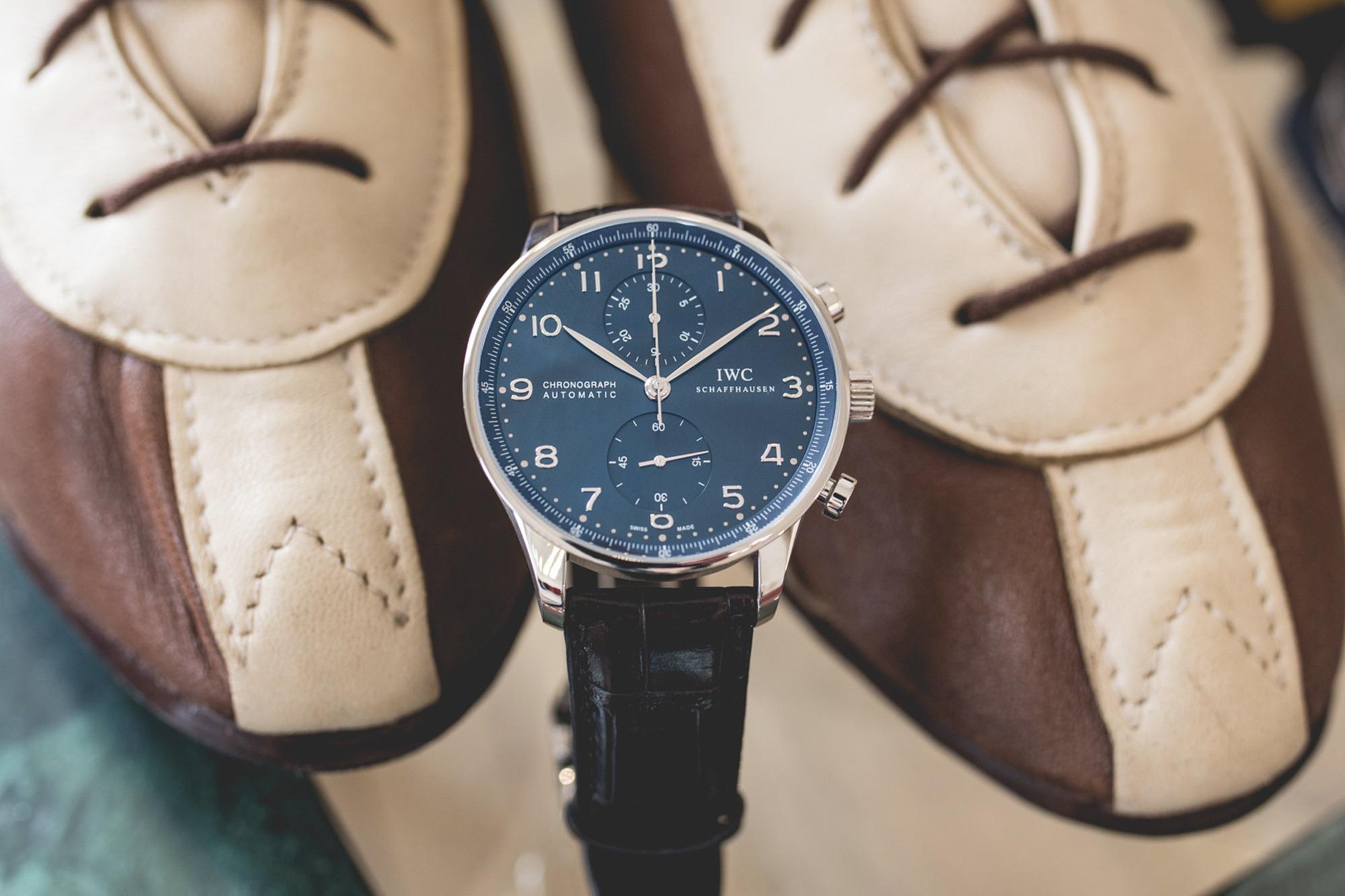 Tease Me: IWC Portugieser Chronograph Blue Dial