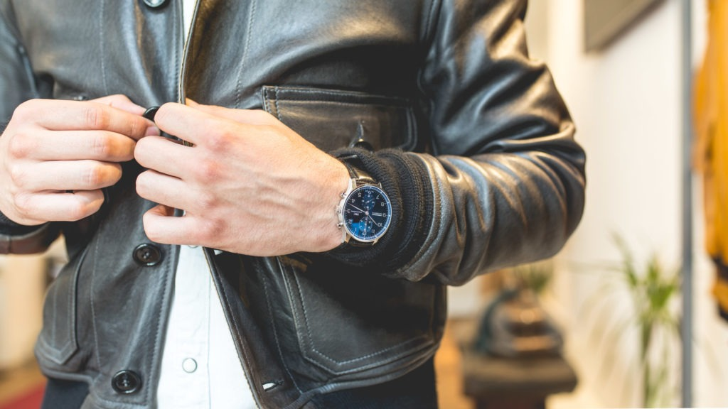 IWC Portugieser Chronograph Blue Dial - Style