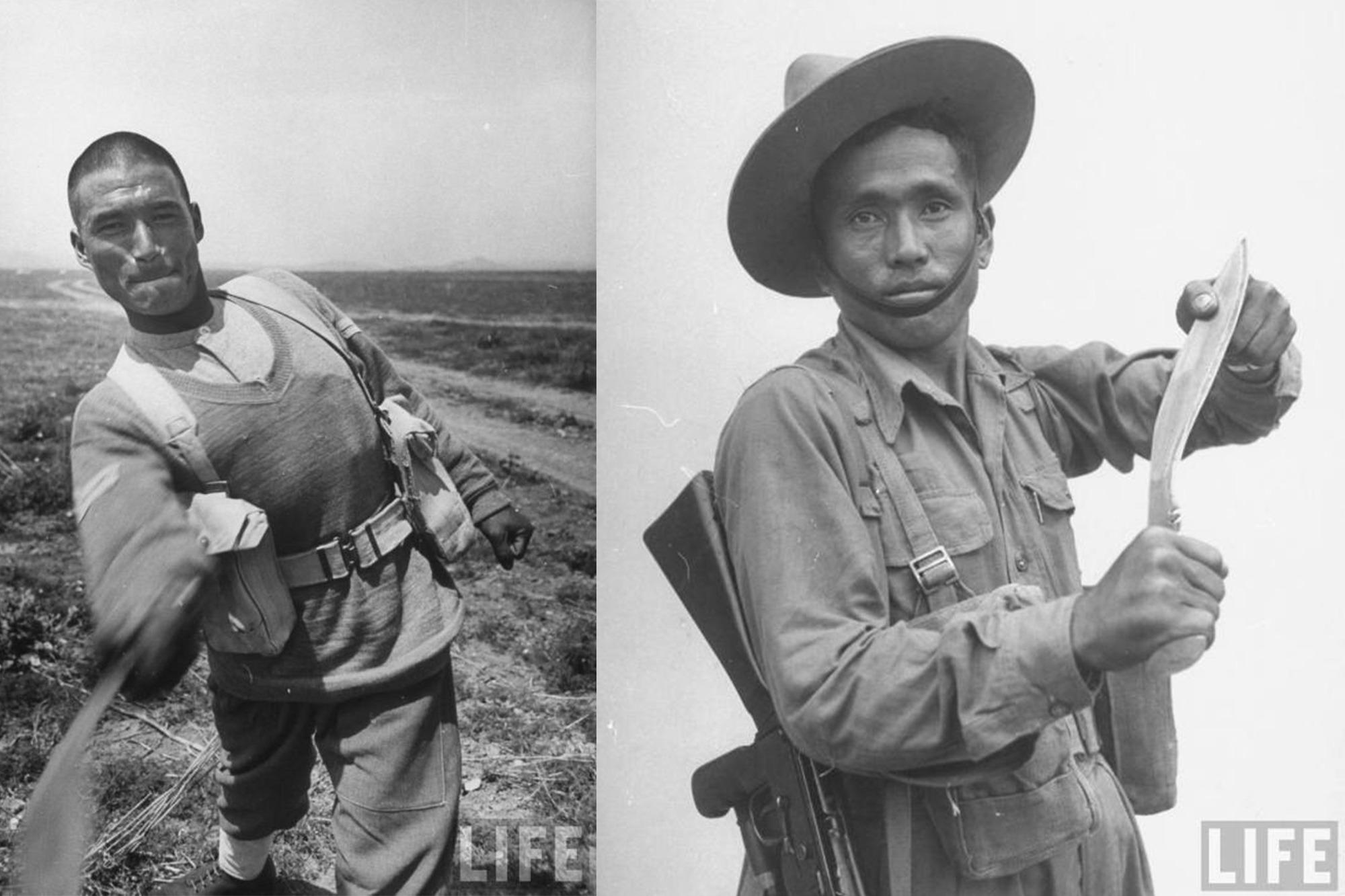 Soldats Gurkha 1950s