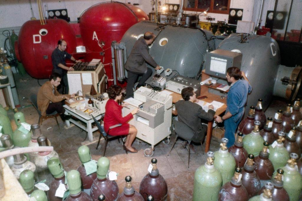 Comex - Premier centre d'essai hyperbare (source : Comex)