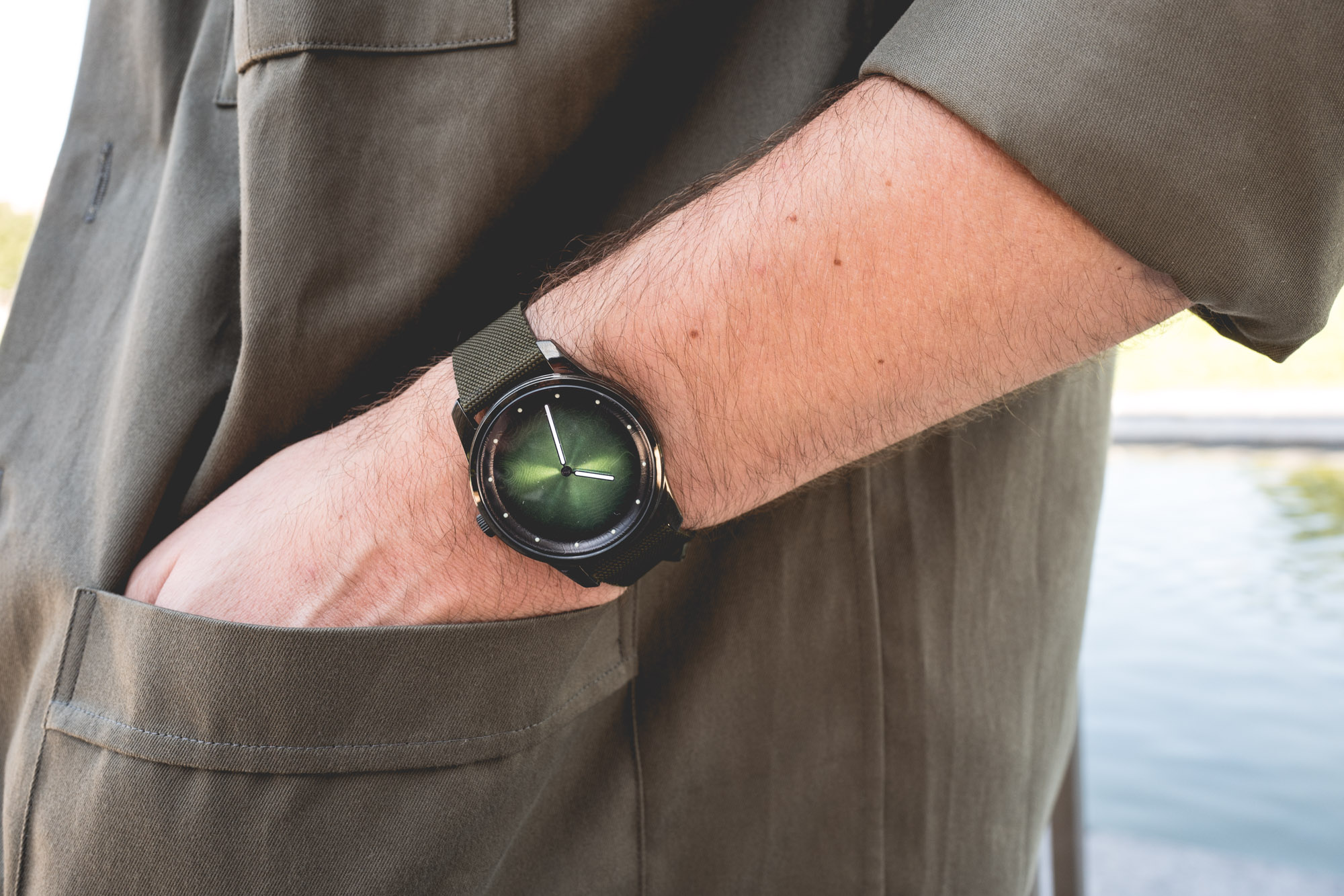 Awake Watches - cadran vert