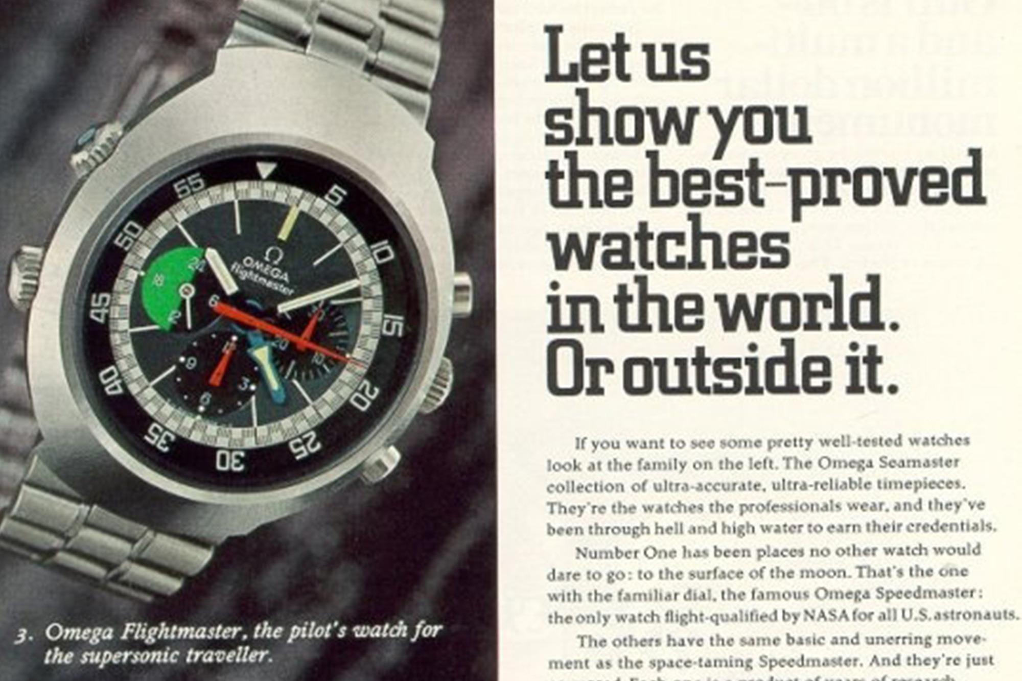 Omega Flightmaster Ad