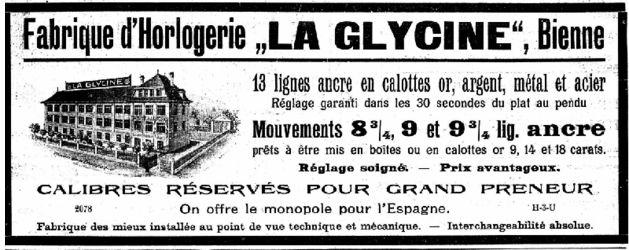 """Ancienne publicité """"La Glycine"""""""