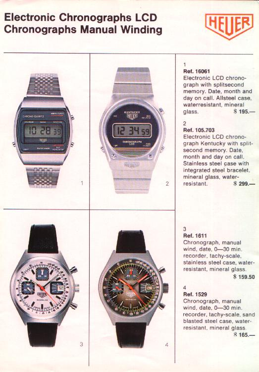 Catalogue Heuer de 1979 - Heuer Chronographe Ref. 1611