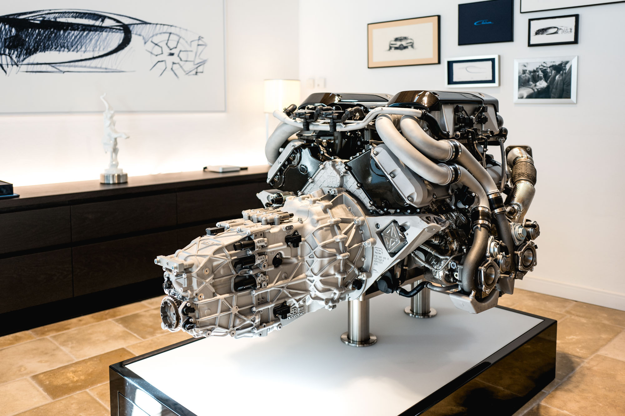 Ateliers Bugatti à Molsheim - Remise sud - Moteur W16