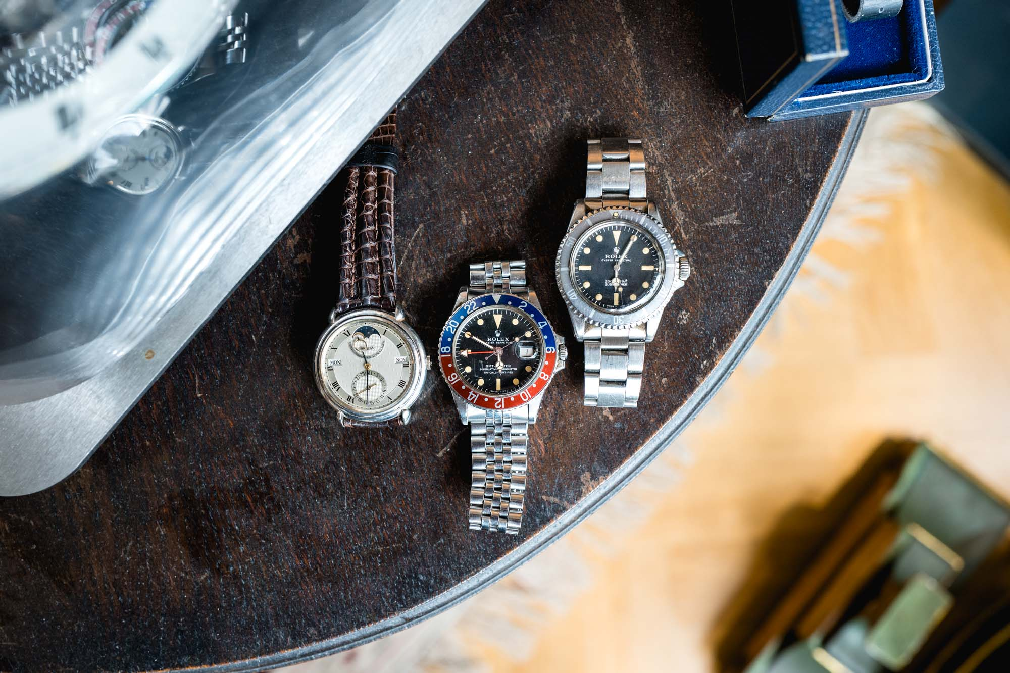 Antique Watches Basel - Urban Jürgensen Perpetual Calendar / Rolex GMT-Master 1675 / Rolex Submariner 5513