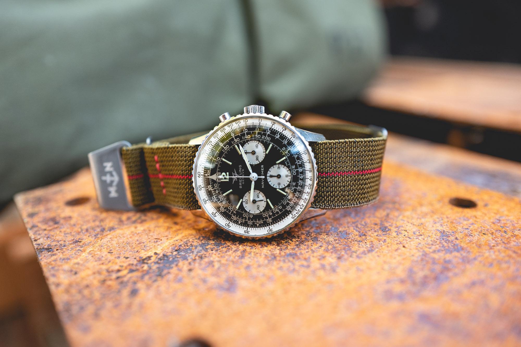 MN Straps - Bracelets Marine Nationale - Breitling Navitimer 806