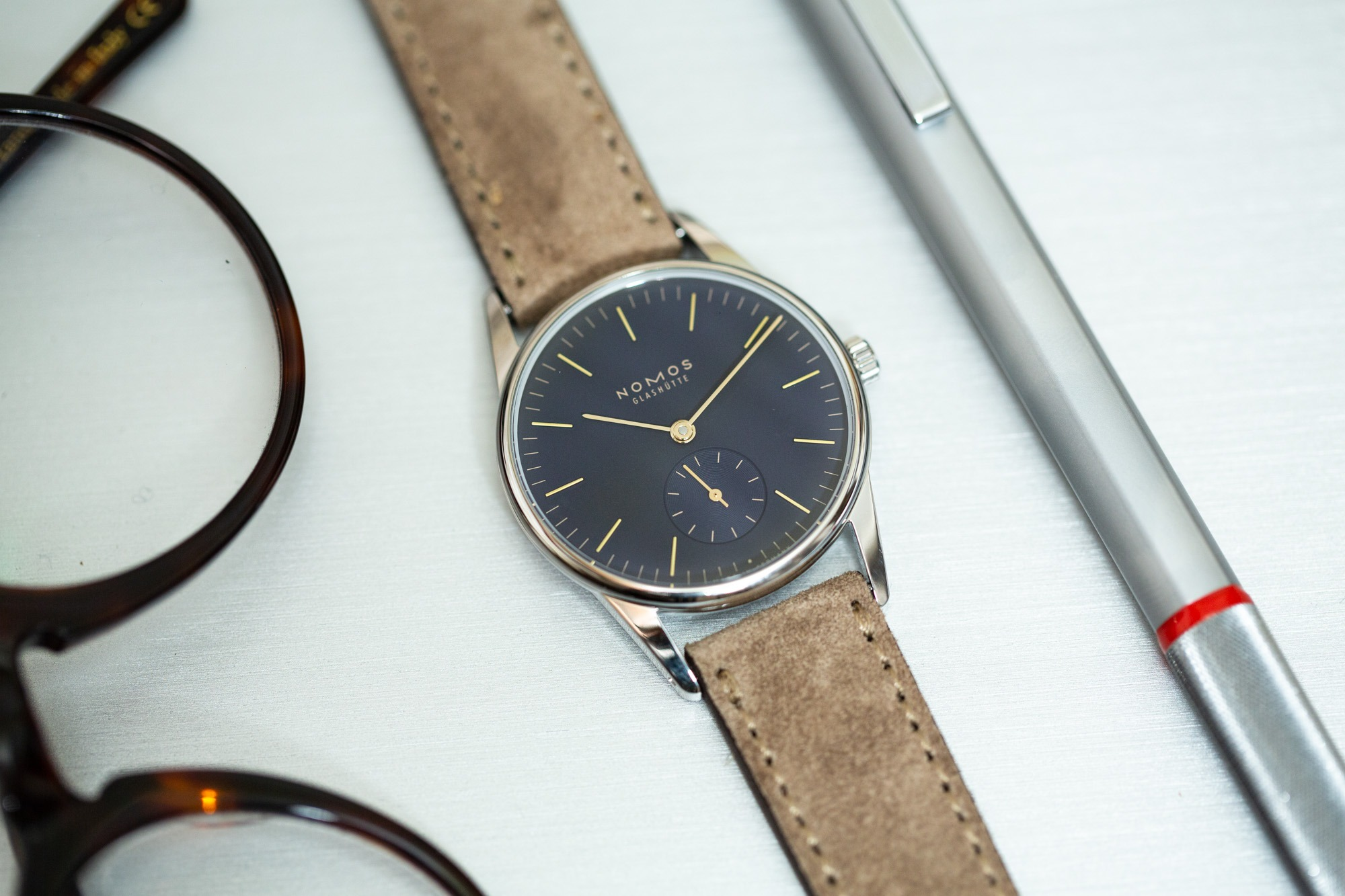 Nomos Orion Midnight Blue 33mm