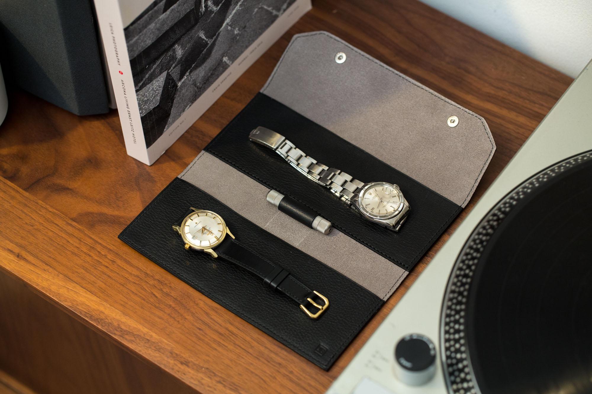 Joseph Bonnie - Quincy : pochette pour montres en cuir