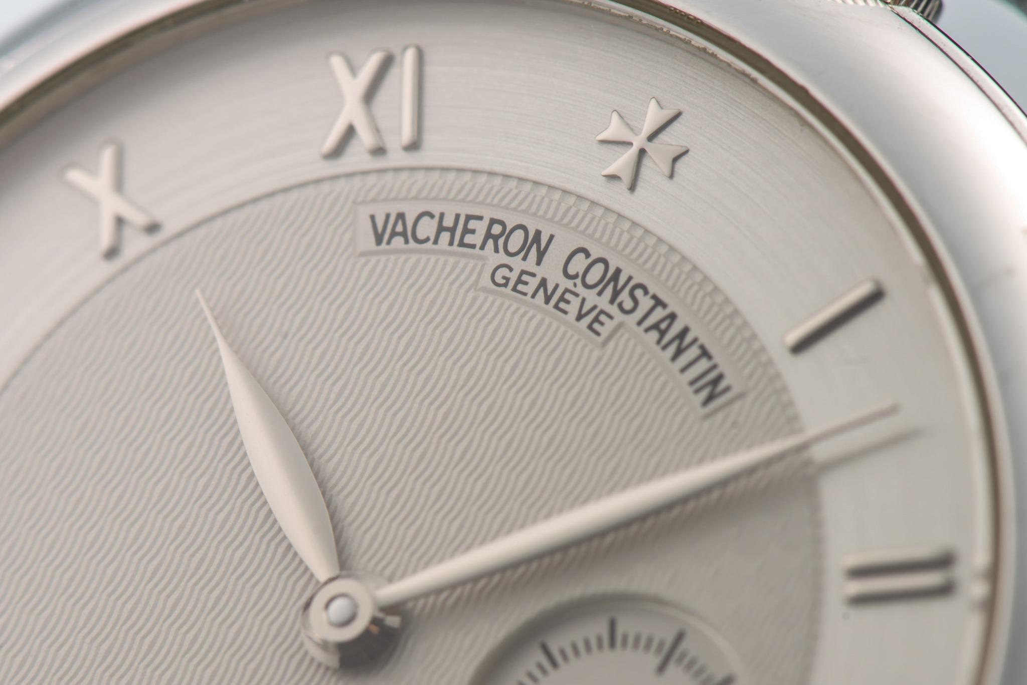 Antiquorum - Lot 358 : Vacheron Constantin, montre en or blanc avec remontoir à 12h