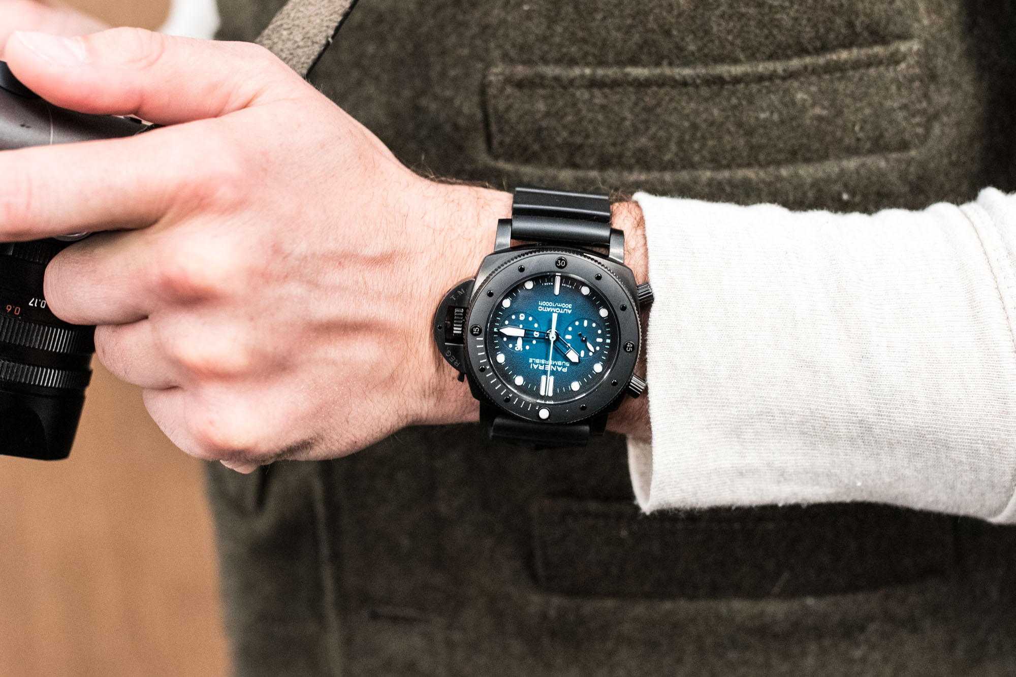 Panerai Submersible Chronographe Guillaume Nery Ed Speciale