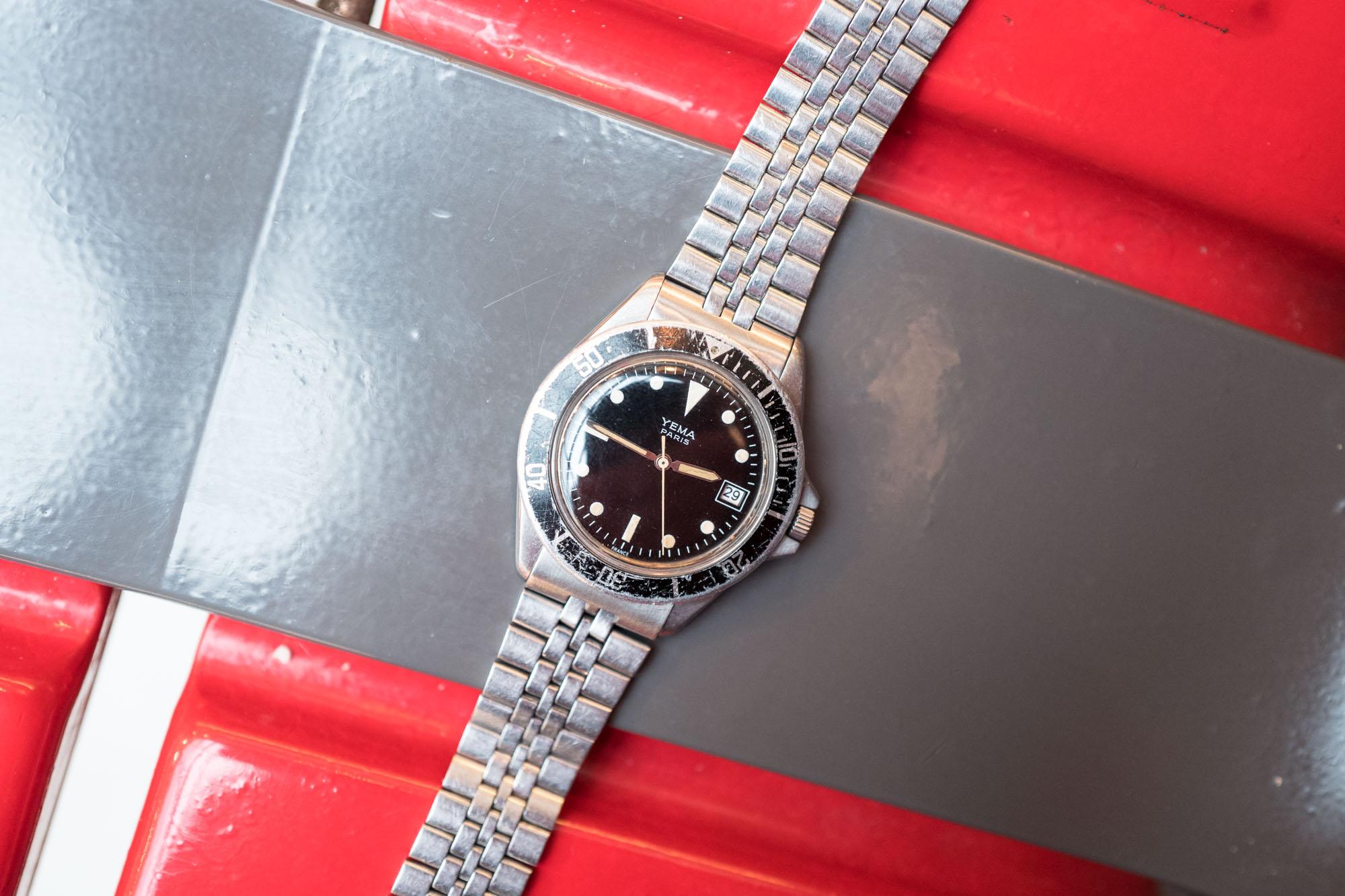Yema Paris Quartz Diver Vintage