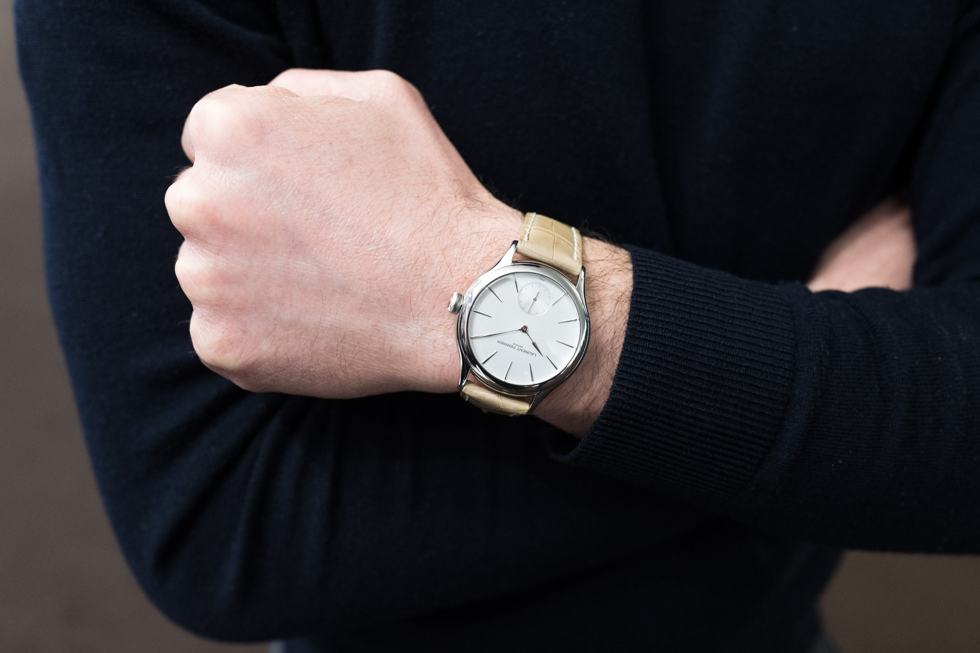 Laurent Ferrier Galet Micro Rotor Opaline White