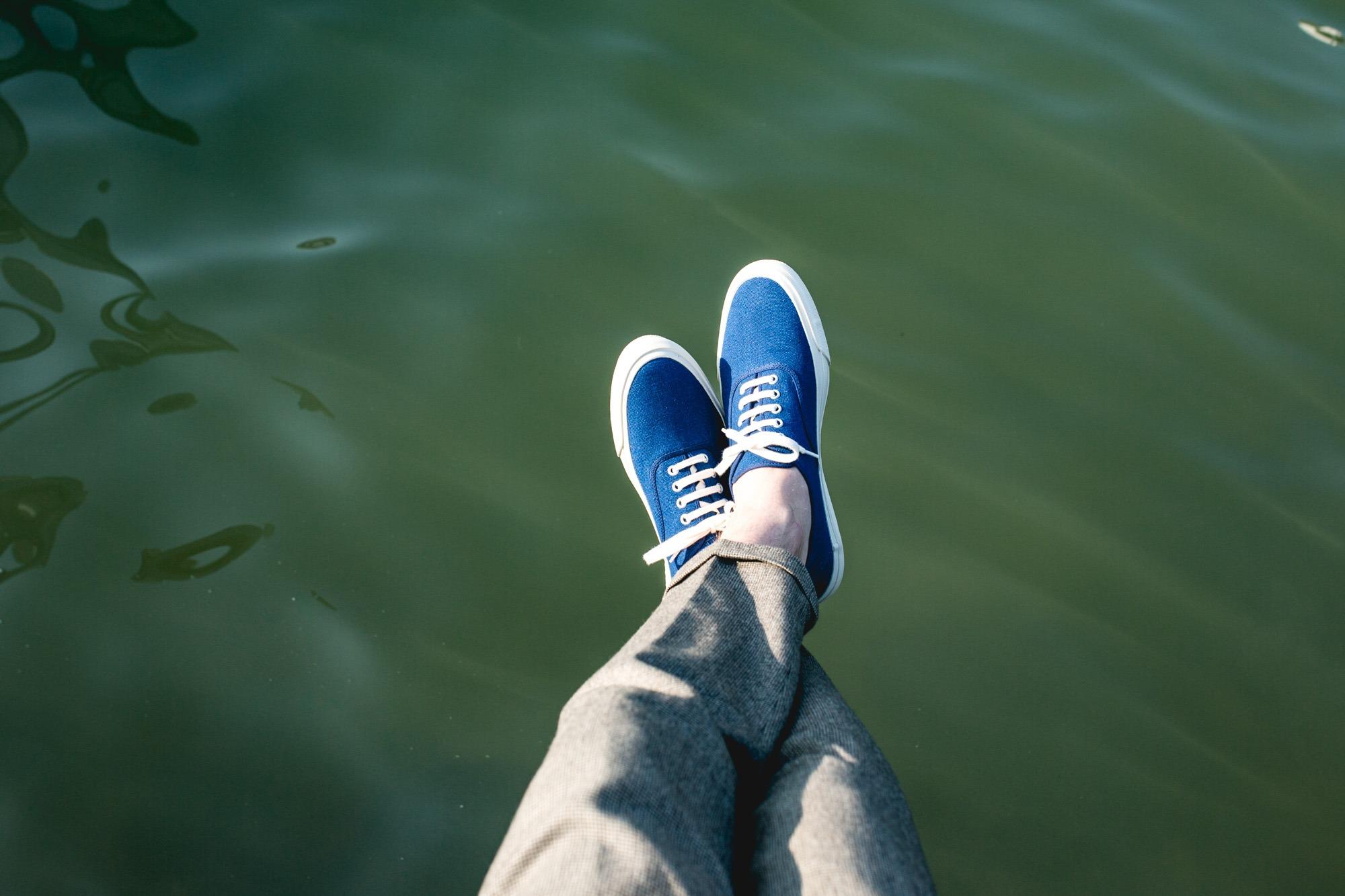 Doek Shoes Oxford Navy - Look