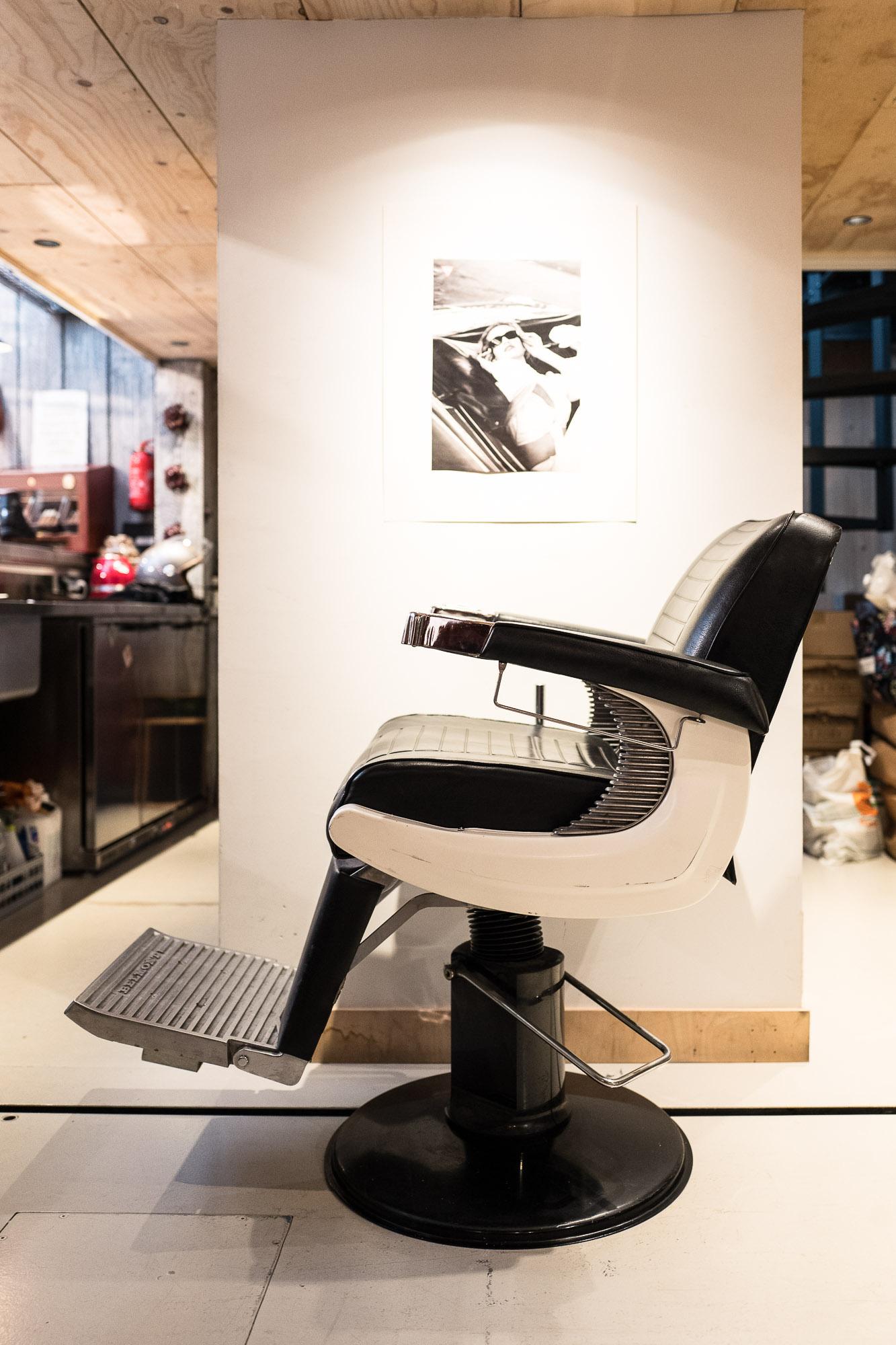 La brocante de La Fabrique Générale - Siège de barbier