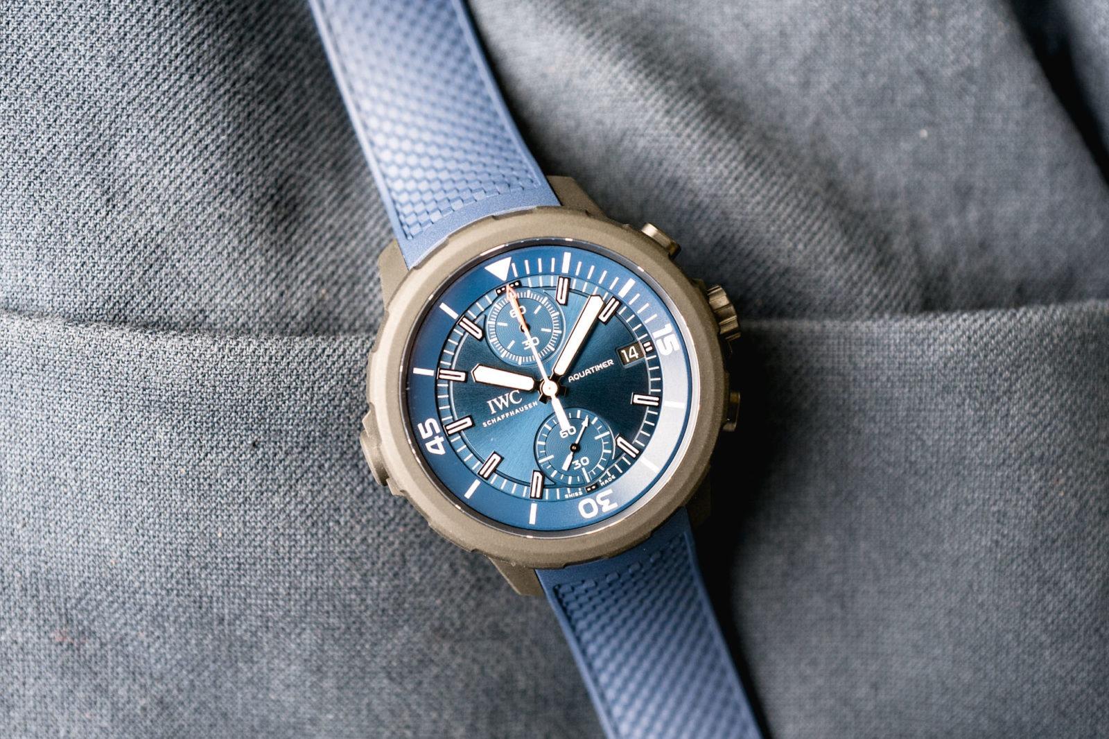 IWC Aquatimer Chronograph - Edition Laureus 2019 - Cadran