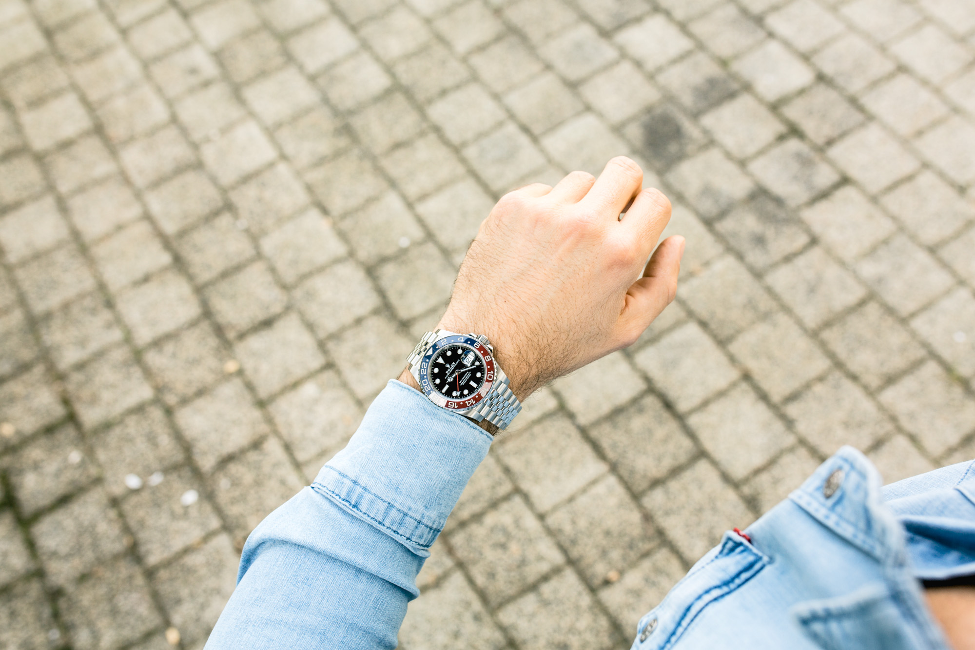 Rolex GMT-Master II Ref 126710BLRO - Wristshot