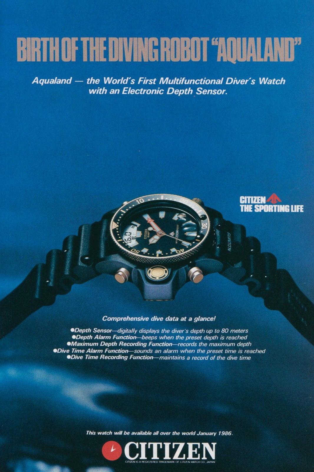 Citizen Aqualand - Publicité (Seiko & Citizen Watch Forum)