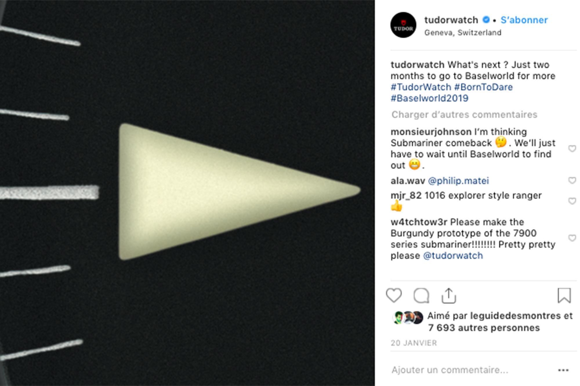 Instagram de Tudor