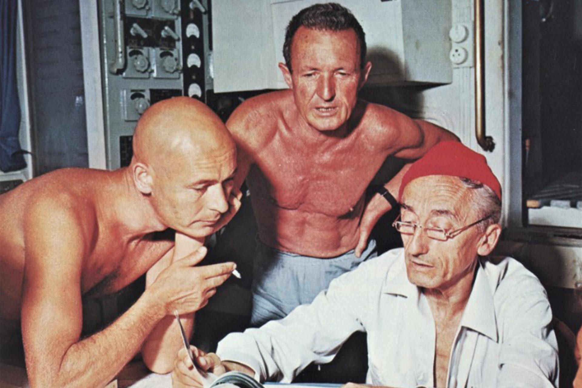 André Laban, Frédéric Dumas et Jacques-Yves Cousteau