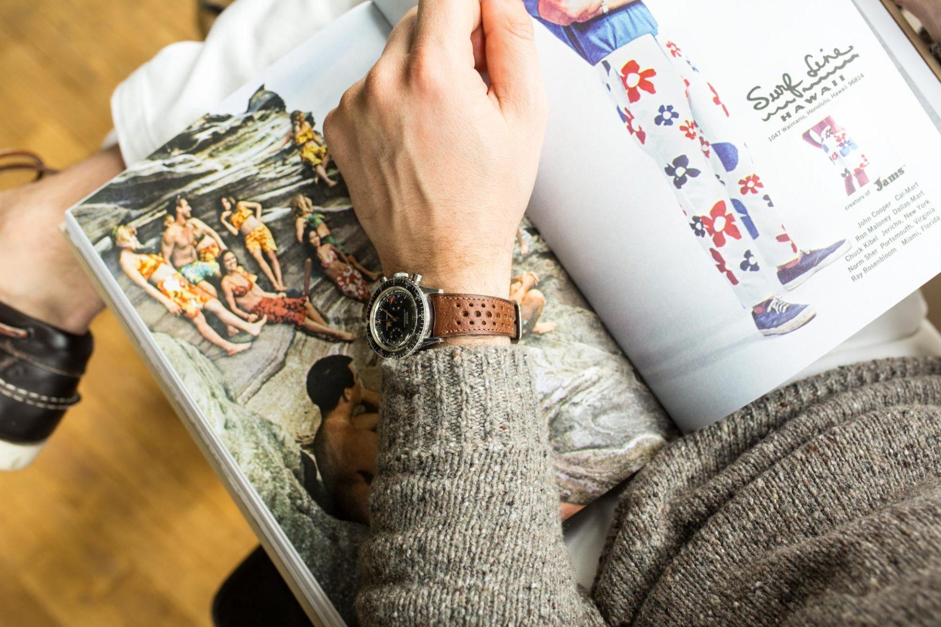 Joseph Bonnie - Bracelet de Montre Rallye en cuir vintage des Tanneries Gal - Couleur Café