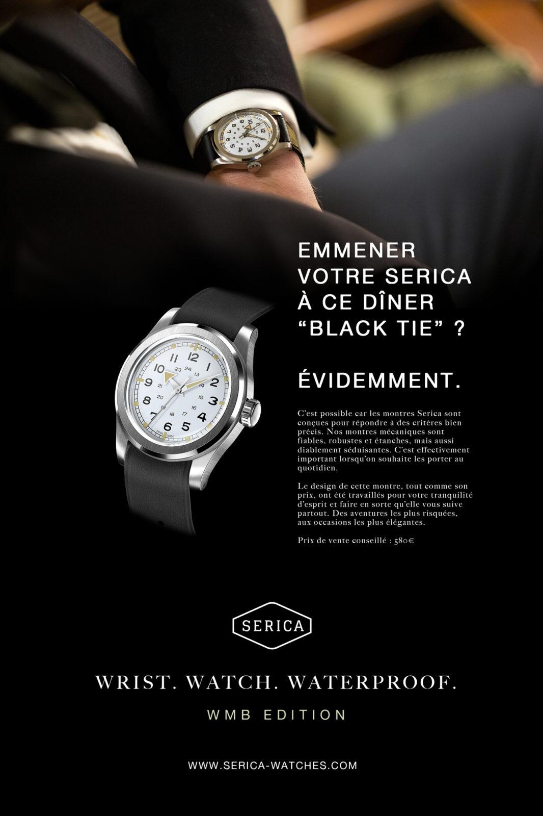 """Publicité SERICA - """"Black Tie"""""""