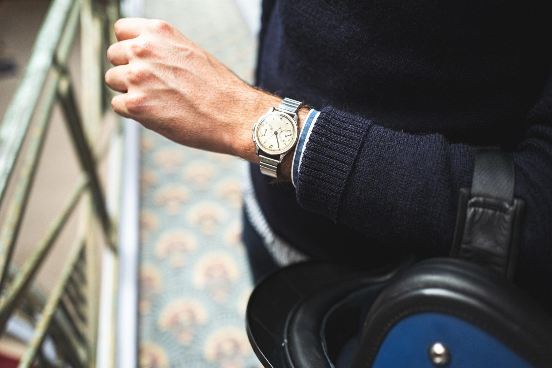 Chronographe Jaeger - Vente importante de montres de collection par Tajan le 2 juillet