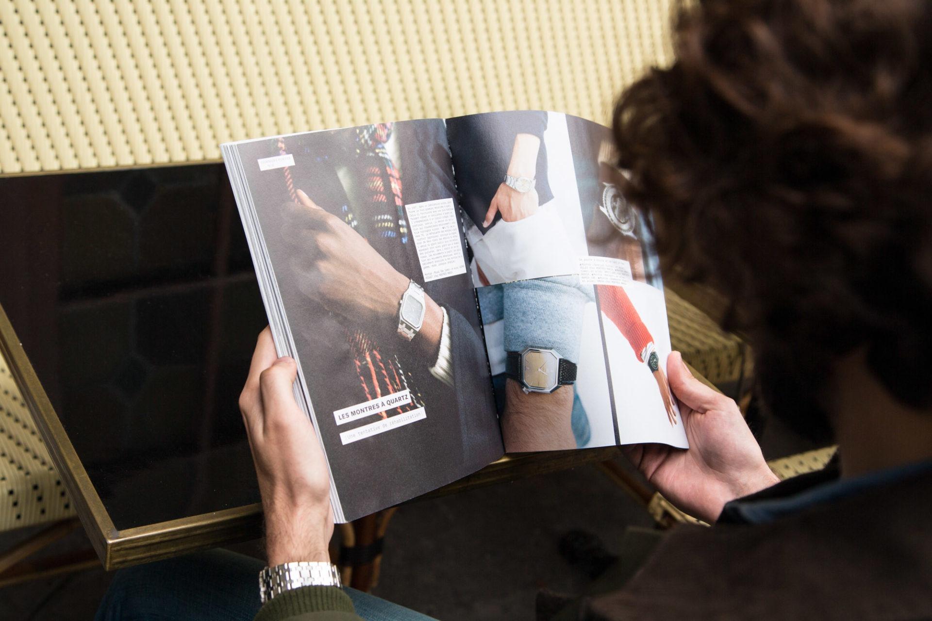 l etiquette magazine montre