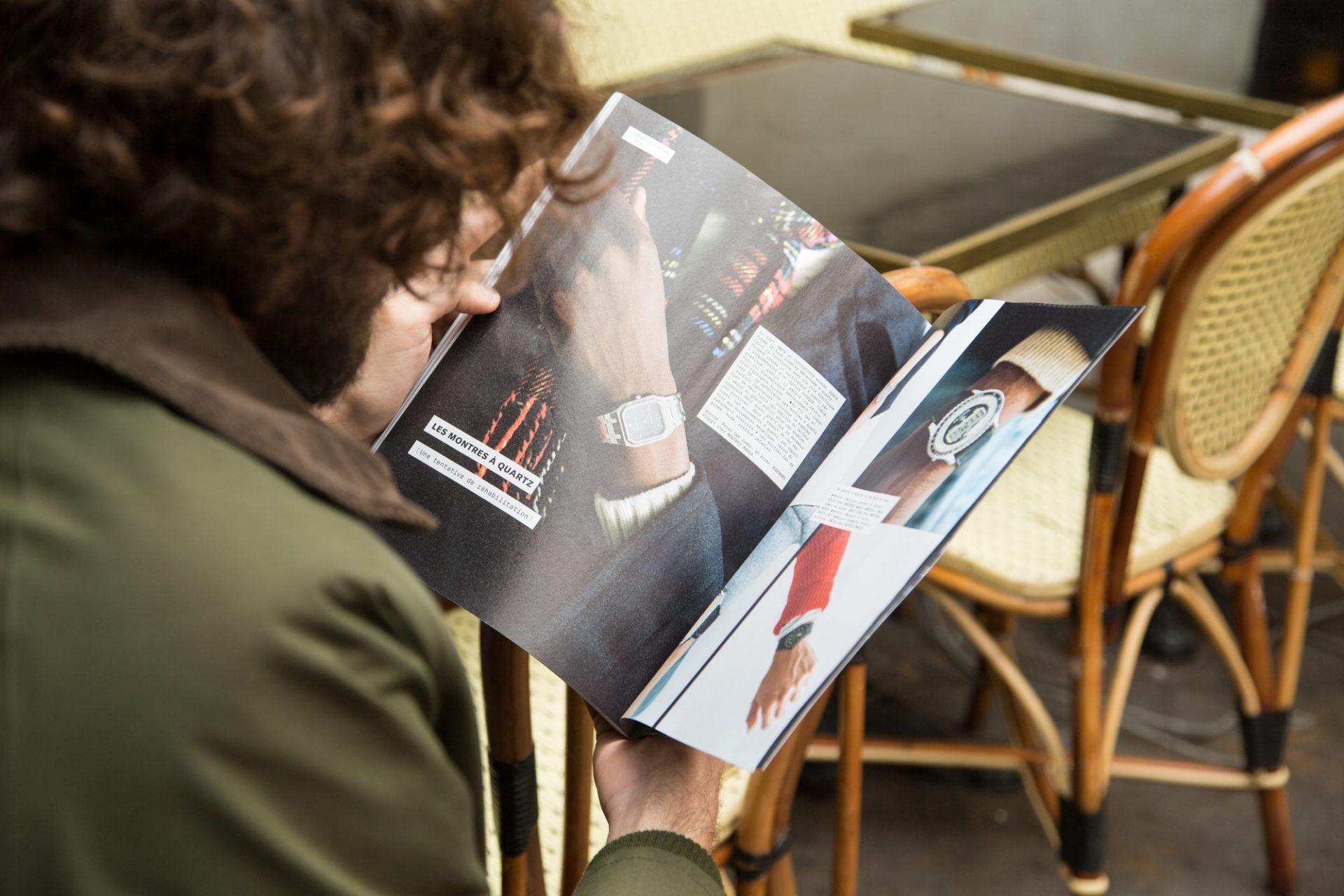 Montre l etiquette magazine