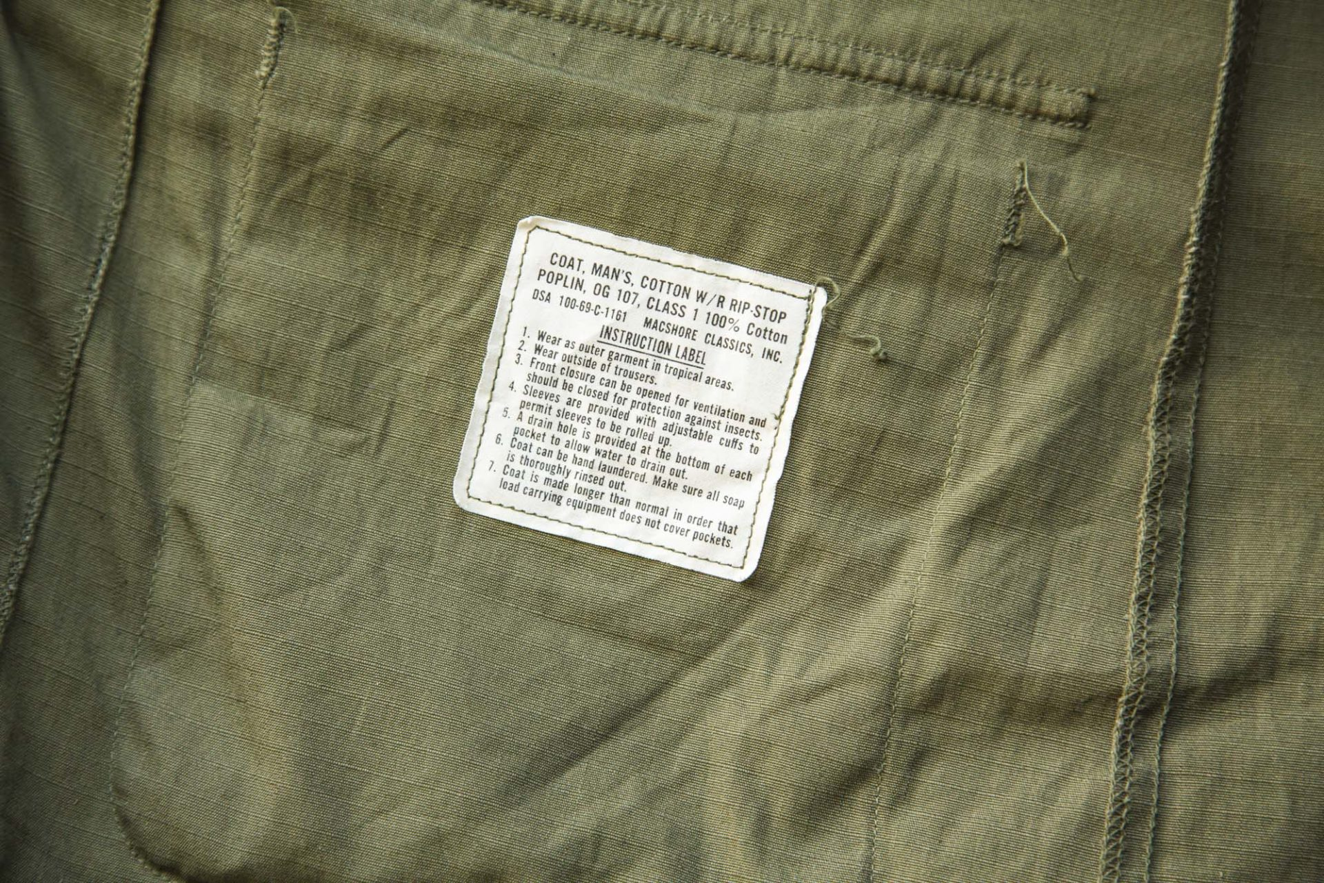 Jungle Shirt OG 107 - U.S Army - Vêtement militaire