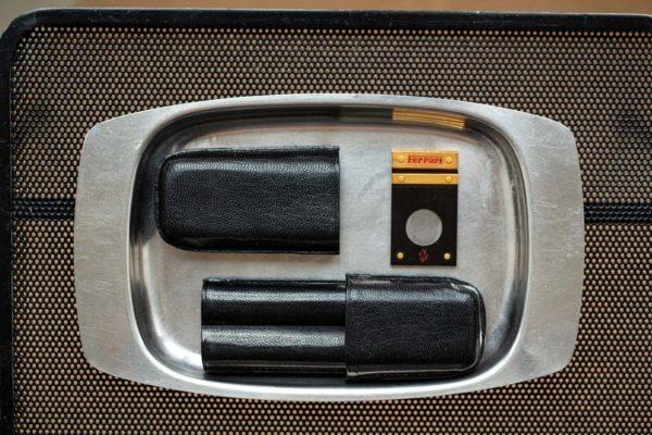 Étui à cigares en cuir noir - Les objets Joseph Bonnie