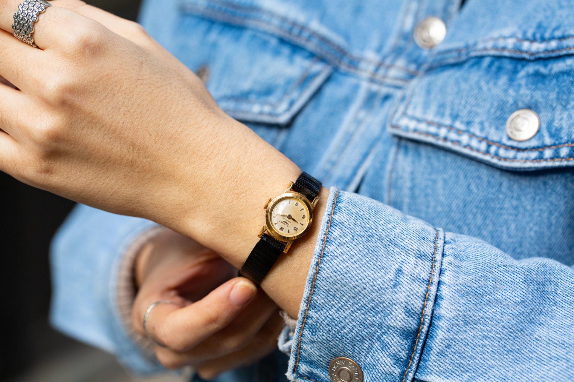 Longines dame en or - Sélection de montres vintage Joseph Bonnie