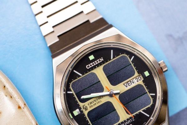 Citizen Crystron Solar Cell- Sélection de montres vintage chez Joseph Bonnie