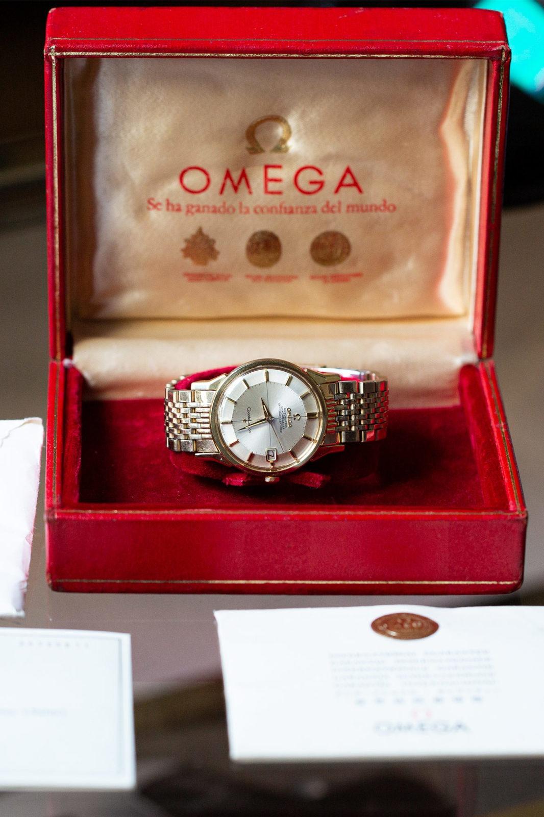 Omega Constellation Pie Pan Gold Cap - Sélection de montres vintage Joseph Bonnie